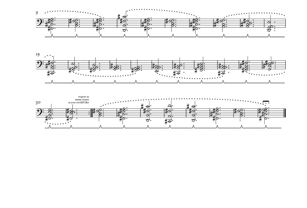Chatham Bellbird from The Extinction Series (solo piano)