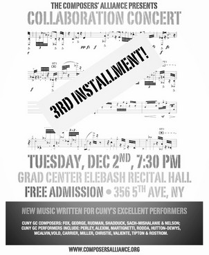 The Composers Alliance Presents: Collaboration Concert