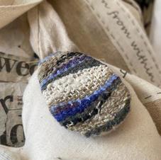 Woven Pebble Brooch