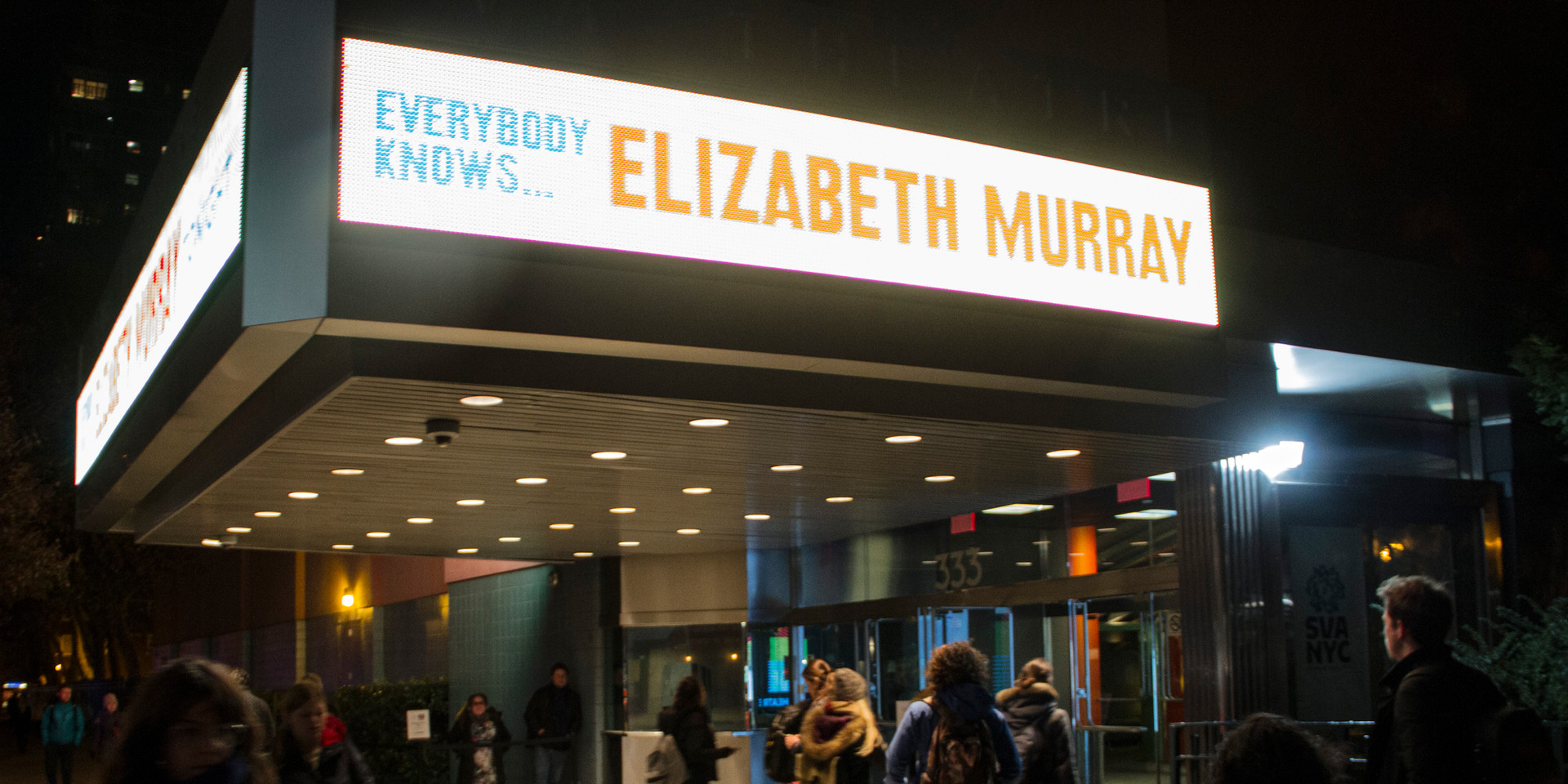 Photos from SVA Theatre screening of Everybody Knows...Elizabeth Murray