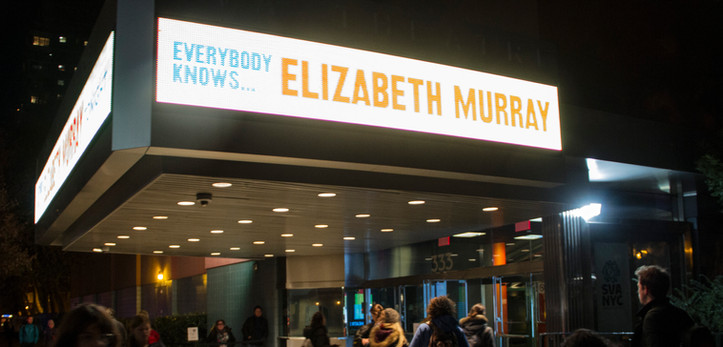 Photos from SVA Theatre screening of Everybody Knows...Elizabeth Murray