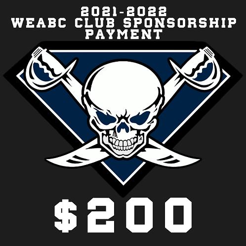 WEABC 2021 CLUB PROGRAM SPONSORSHIP PAYMENT