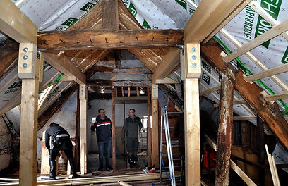 9- Dämmung Dach - Sanierung Fotos 6. 4.