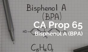 加州 65 新增雙酚 A(BPA) 毒性定義