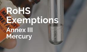 歐盟擬修訂 RoHS 附錄三中「汞」豁免條款