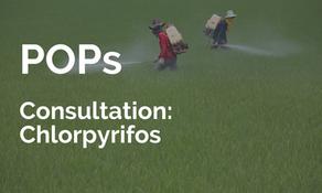 ECHA: POPs 公眾諮詢 - Chlorpyrifos 毒死蜱