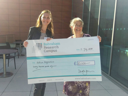 Winners of Accelerate@Babraham competition