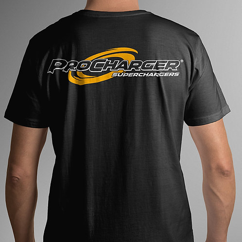 ProCharger Black T-Shirt Yellow/White Logo