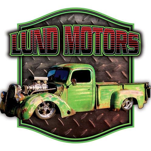 Lund Motors Black Pull-Over Hoodie