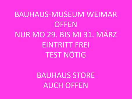 Das Bauhaus-Museum öffnet kurz und frei