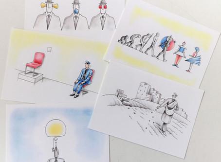 Bauhaus Cartoons - Postkartenset