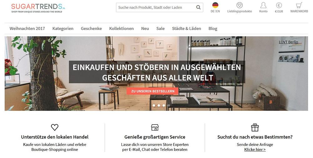 Sugartrends Homepage