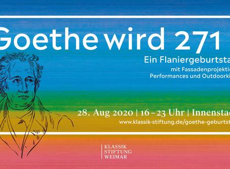 Der Goethe-Geburtstag 2020