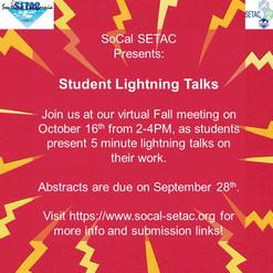Virtual Fall Meeting Oct 16 - Student Lightning Talks!