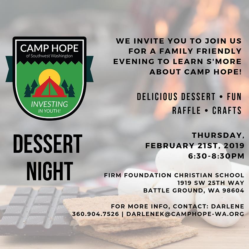 Camp Hope Dessert Night
