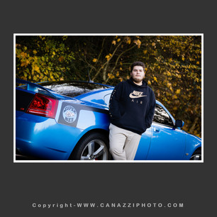 High School Senior Guy with blue car Vancouver Washington_232.jpg