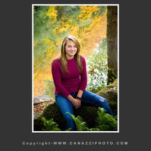 High School Senior Gal by river with fall colored reflections Battleground Washington_248.jpg