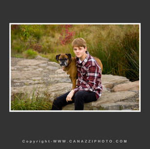 High School Senior Guy with dog outside in nature Vancouver Washington_215.jpg