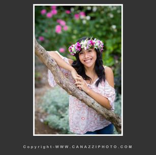 High School Senior Girl standing with flowers Vancouver Washington_117.jpg