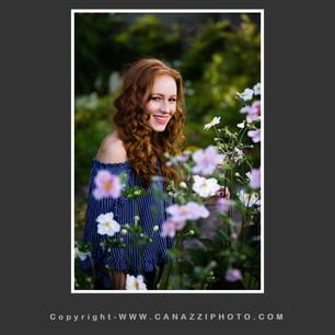 High School Senior Girl standing in flowers Vancouver Washington_131.jpg