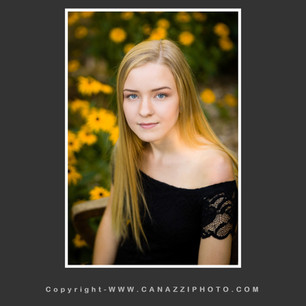 High School Senior Girl Yearbook with yellow flowers in background Vancouver Washington_136.jpg