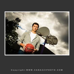 High School Senior Guy standing with basketball Vancouver Washington_213.jpg