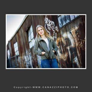 High School Senior Gal in Industrial Portland Oregon with graffiti _326.jpg