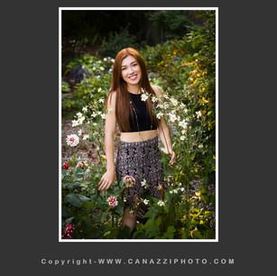 High School Senior Girl standing in flowers Vancouver Washington_124.jpg