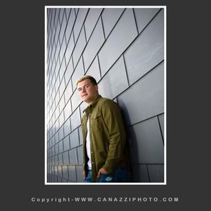 High School Senior Guy against gray wall Urban Vancouver Washington_223.jpg