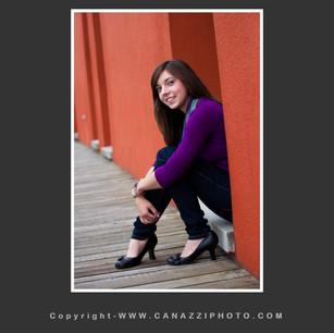 High School Senior Gal sitting next to orange wall in Portland Oregon for Yearbook_329.jpg