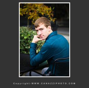 High School Senior Guy outdoors looking over shoulder Urban Vancouver Washington_221.jpg