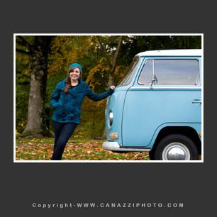 High School Senior Gal in Portland Oregon leaning on old VW van _325.jpg