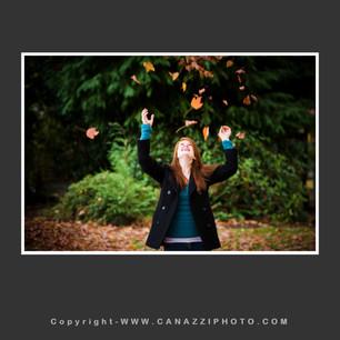 High School Senior Girl tossing up fall leaves Vancouver Washington_247.jpg