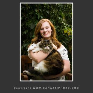High School Senior Girl seated with pet cat Vancouver Washington_134.jpg