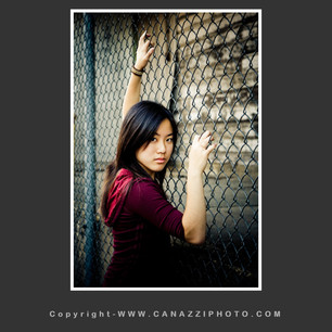High School Senior Gal against metal fence Industrial Vancouver Washington _238.jpg