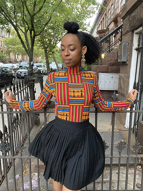 SI Original Kente Mock Neck