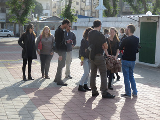 Meeting at the Levinsky Garden