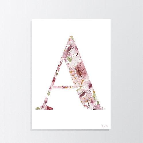 Floral Garden Alphabet A B C D E