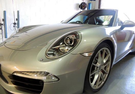 Silver Porsche