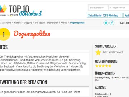 DOGSMOPOLITAN in der Top10 Rheinland