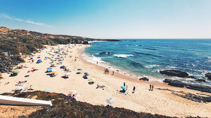 A picture of a family-friendly beach close to Balaia Golf Village in the Algarve, Portugal