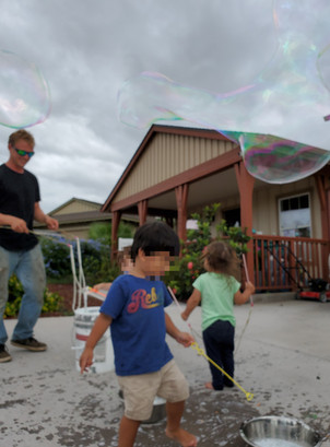 Bubbles with Uncle Tyler