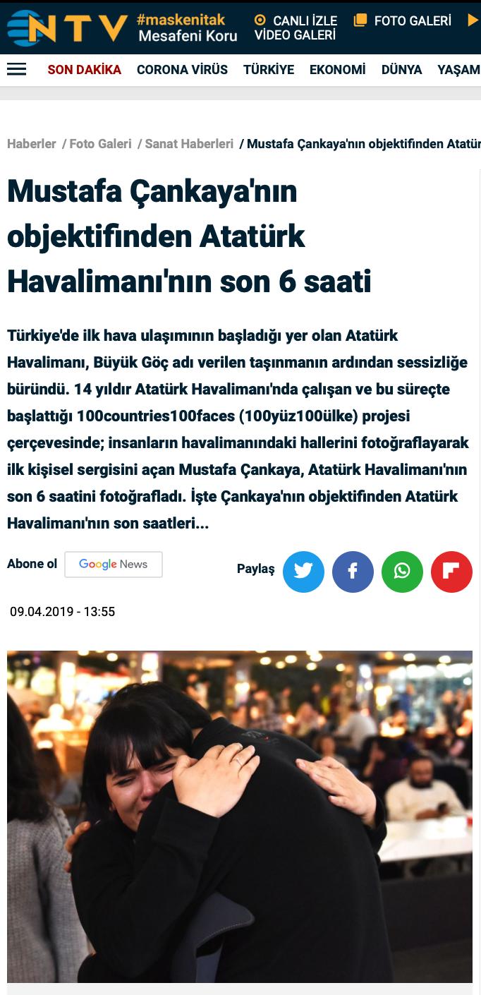 NTV Atatürk Havalimanı'nın son 6 saati.p