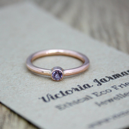 Rose Gold Spinel Ring