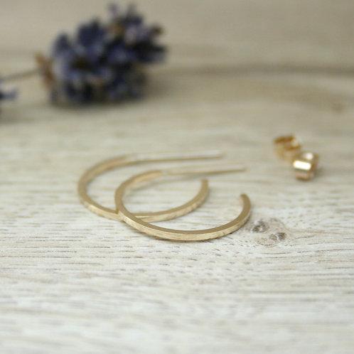Skinny Gold Hoop Earrings