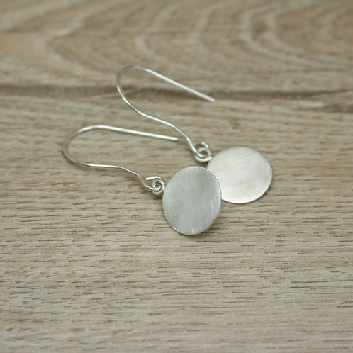 Round Disc Dangly Earrings