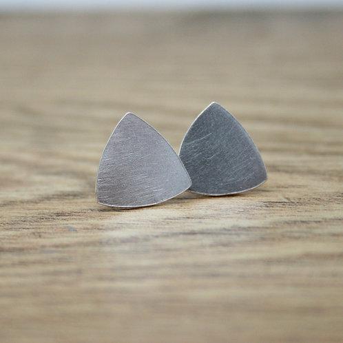 Geometric Triangle Silver Earrings