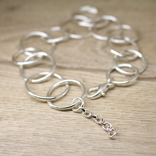 Skinny Hoop Silver Bracelet