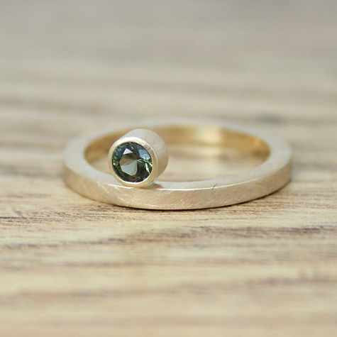 Gold Zircon Ring