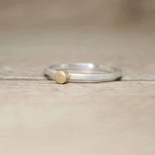 Silver and Gold Skinny Stacking Ring - Tiny - Simplicity Collection